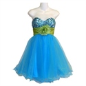 Show details for Prom Dress Layered Of Tulle And Sequin With A Matching Taffeta Flower