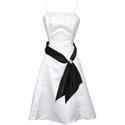 Show details for Black And White Dresses, Black And White Sash Bridesmaid Dress