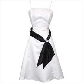 Black And White Dresses, Black And White Sash Bridesmaid Dress