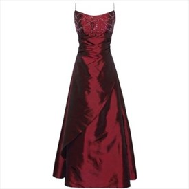 Stunning Taffeta Formal Gown Bridesmaid Dress