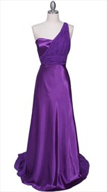 Gorgeous Fixed Purple Chiffon Formal Gown Dress