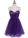 Show details for Short Purple Cocktail Dresses, Short Purple Prom Dresses