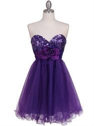 Short Purple Cocktail Dresses, Short Purple Prom Dresses