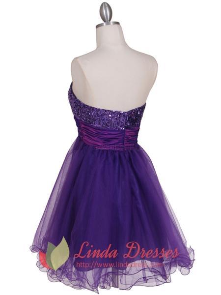 Cheap Purple Cocktail Dresses Uk 53