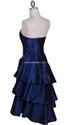 Show details for Royal Blue Taffeta Tier Cocktail Dress