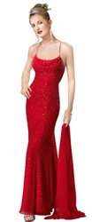 Fantastic Red Beaded Chiffon Spaghetti Strap 2018 Prom Dresses