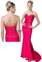 Show details for Dreamy Strapless Hot Pink Taffeta 2021 Prom Dresses
