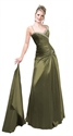 Spendid Olive Green Satin Spaghetti Stap With Beading 2019 Prom Dress