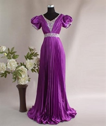 Fabulous Purple Noticeable Thin Princess Evening Dress