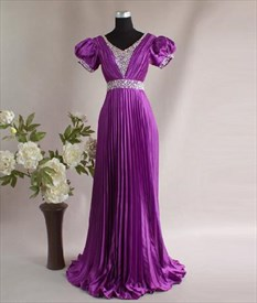 Fabulous Purple Noticeable Thin Princess Evening Dress