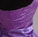 Show details for Brilliant Purple Sequin 2021 Short Cocktail Dress With Bow