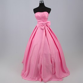 Flirtatious Pink Charmeuse 2019 Prom Ball Gown Dress