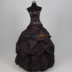Imposing Organza Blue Black 2016 Bubble Ball Gown Dress