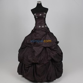 Imposing Organza Blue Black 2019 Bubble Ball Gown Dress