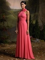 Show details for Chiffon Halter Bridesmaid Dresses, Fuchsia Bridesmaid Dresses, Empire