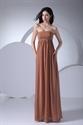 Show details for Coffee Strapless Prom Dresses Long Empire Waist Chiffon Pregnant Dress