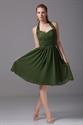 Show details for Hunter Green Bridesmaid Dresses A-Line Halter Chiffon Cocktail Dresses