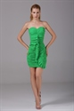 Show details for Green Sweetheart Short Prom Dress Pleated Chiffon Mini Cocktail Dress
