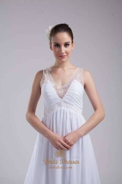 Side Drape Chiffon Pleated Mother Of The Bride Dress With Long Sleeve