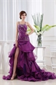 Glamorous Sweetheart Floor-Length Tiered Dress,Tiered Ruffle Prom Gown