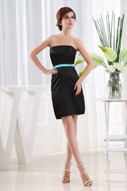 Simple Strapless Little Black Dress, Little Black Dress With Belt