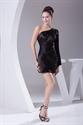 Show details for Black One Shoulder Dress With Long Sleeve, Little Black Cocktail Dress