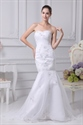 Show details for Mermaid Sweetheart Cocktail Organza Evening Dress, White Wedding Gowns