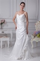 Show details for Ivory Spaghetti Strap Wedding Dress, Elegant Ivory Long Prom Dresses
