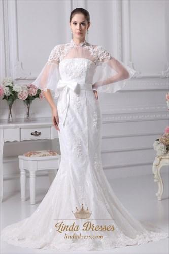 Vintage Inspired Lace Wedding Dresses, Mermaid Lace Wedding Dresses