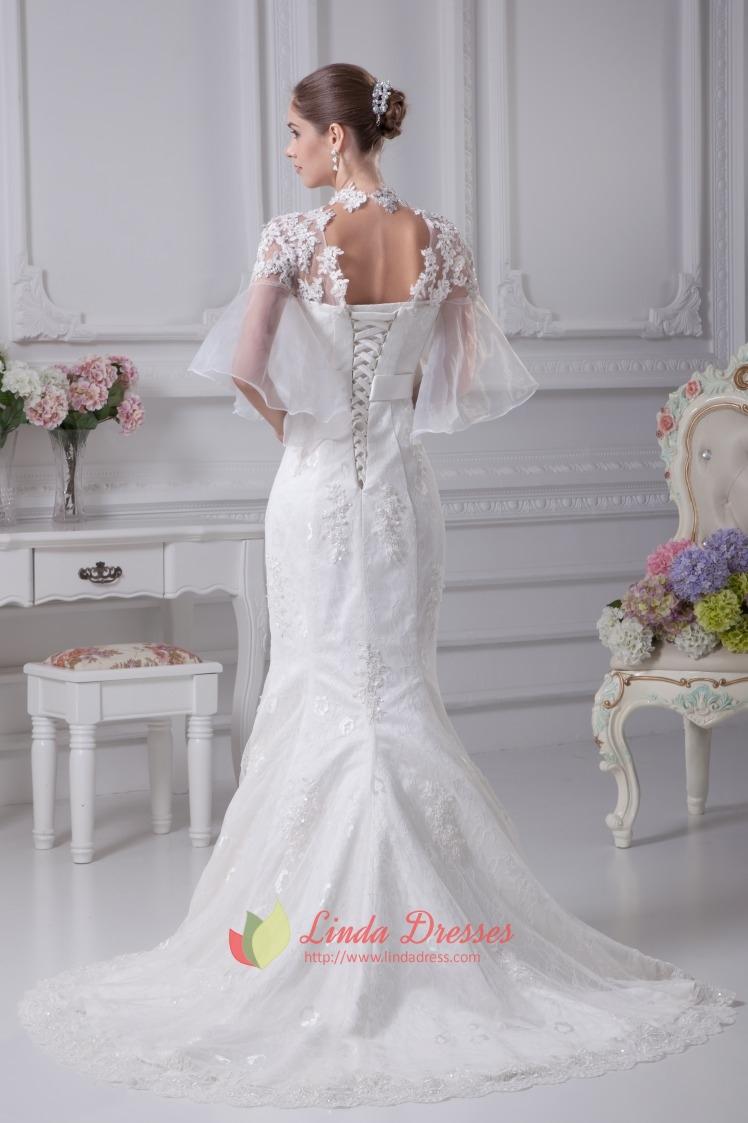 Vintage inspired lace wedding dresses mermaid lace for Vintage mermaid wedding dress
