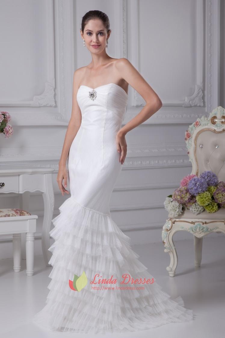 Strapless Mermaid Wedding Dresses 2016, Mermaid Long ...