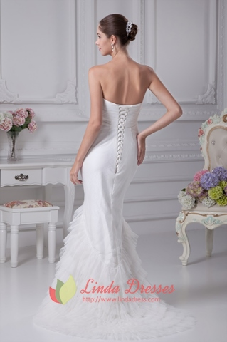 Strapless Mermaid Wedding Dresses 2018, Mermaid Long Evening Dresses
