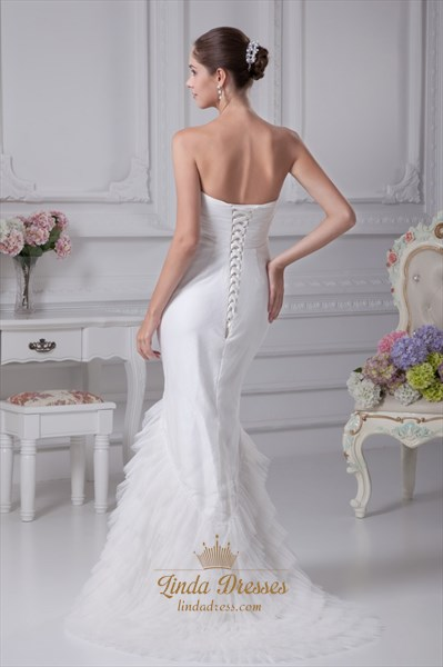 Strapless Mermaid Wedding Dresses 2019, Mermaid Long Evening Dresses