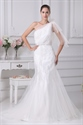 Show details for Elegant One Shoulder Mermaid Wedding Dress, Lace Mermaid Wedding Dress