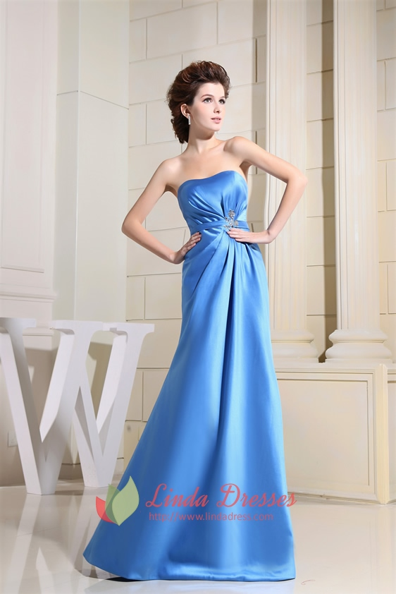 Strapless Pleated Prom Dress
