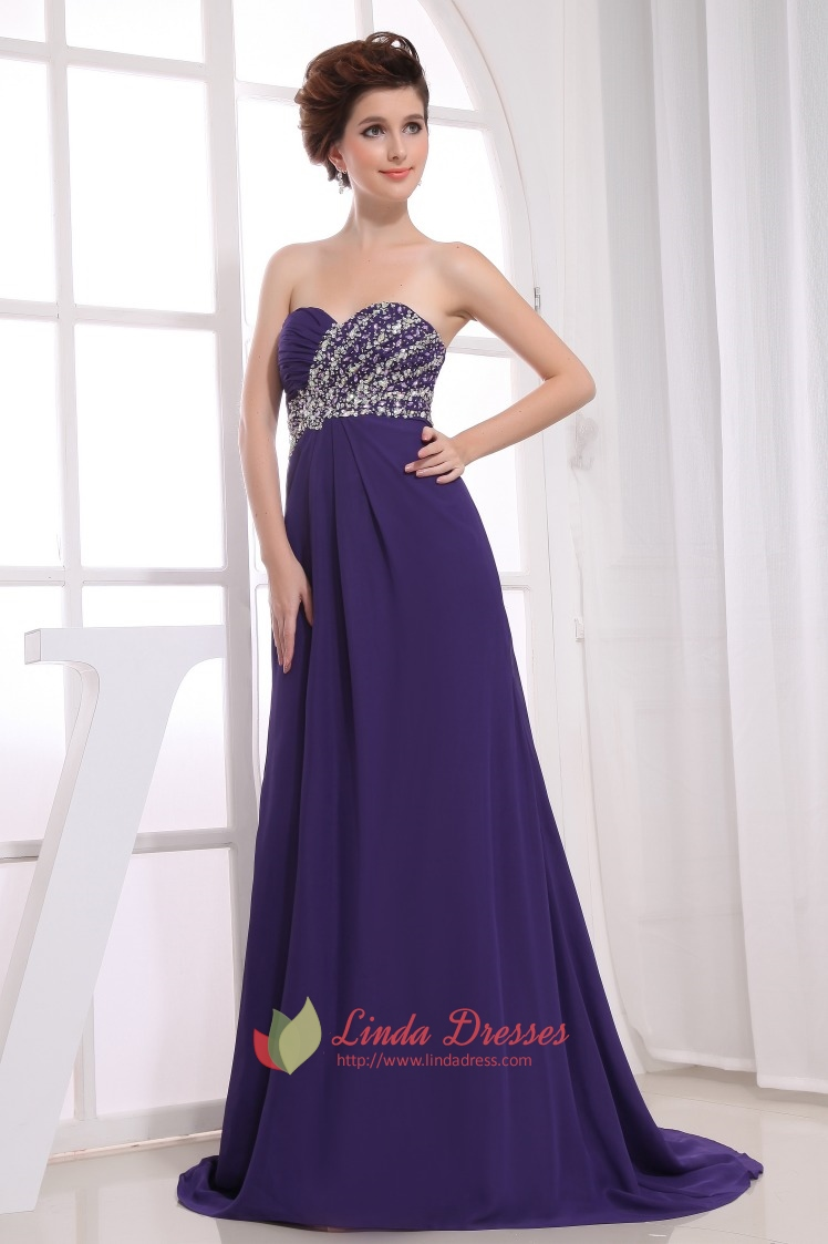 Purple Prom Dresses UK,Purple Chiffon Dress Long 2016 | Linda Dress