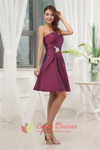 Dark Purple Bridesmaid Dresses Summer Wedding Purple