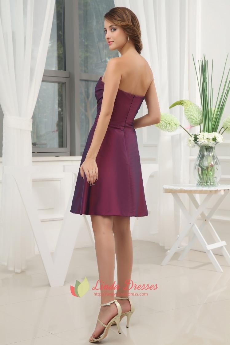 5f6331ed858 Dark Purple Bridesmaid Dresses Summer Wedding