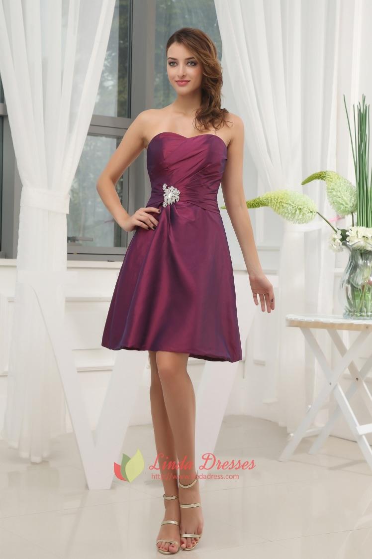 Dark Purple Bridesmaid Dresses Summer Wedding,Purple ...