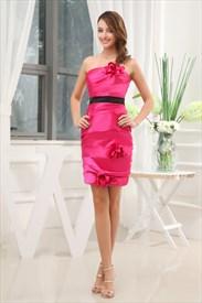 Short Hot Pink Dresses,Cute Hot Pink Cocktail Dresses Australia