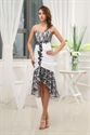 Show details for Front Short Back Long High Low Dress Casual,High Low Dresses With Lace Sheer Overlay
