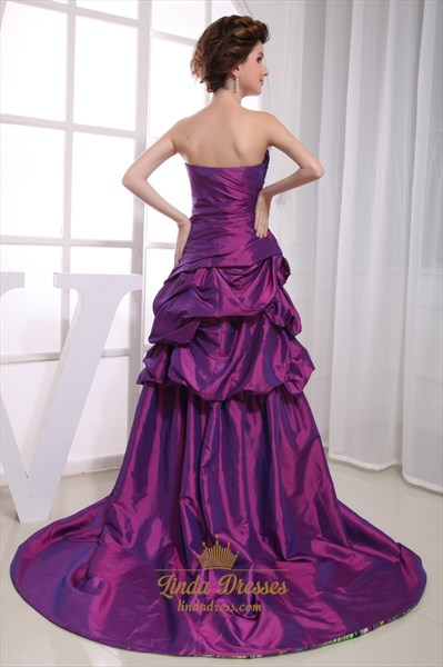 Purple High Low Prom Dresses,Purple High Low Ball Gowns Dress Casual