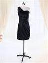 Show details for Short One Shoulder Little Black Dress, Black One Shoulder Drape Dress