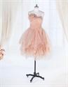 Show details for Short Ruffle Cocktail Dress,Short Strapless Dress Organza Ruffle Skirt