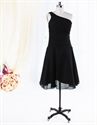 Show details for One Shoulder Chiffon Bridesmaid Dresses, Black Chiffon Cocktail Dress