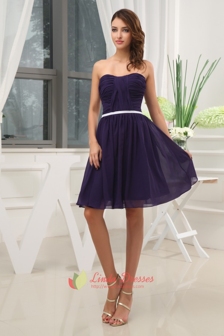 Short Purple Bridesmaid Dresses Under 100,Purple Cocktail Dress ...