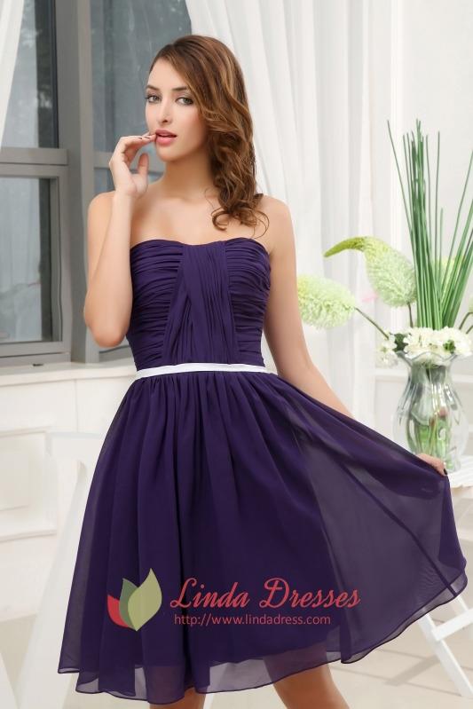 Short Purple Bridesmaid Dresses Under 100-Purple Cocktail Dress ...