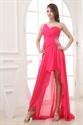 Show details for Hot Pink One Shoulder High Low Prom Dresses,Hot Pink Dresses For Women