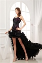 Show details for High Low Dresses Strapless With Ruffles For Girls,Front Short Back Long Dress Casual