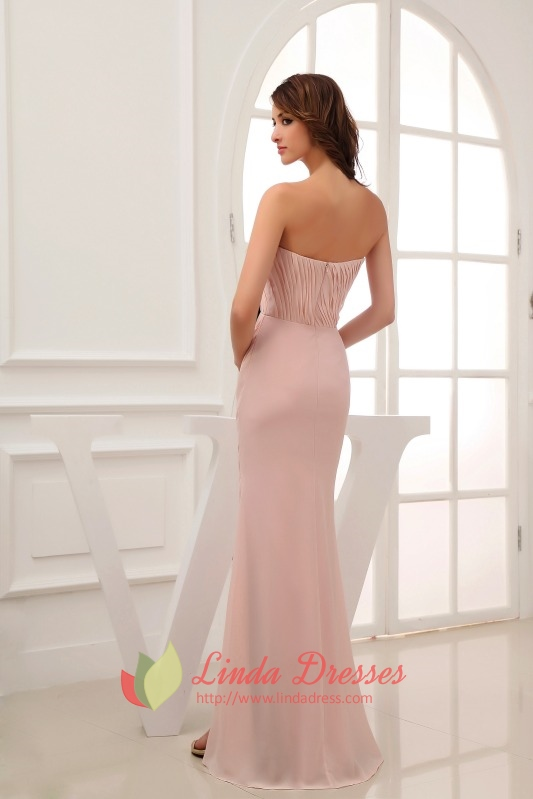 Pink Prom Dress With Black Sash,Blush Pink Long Evening Dresses With ...